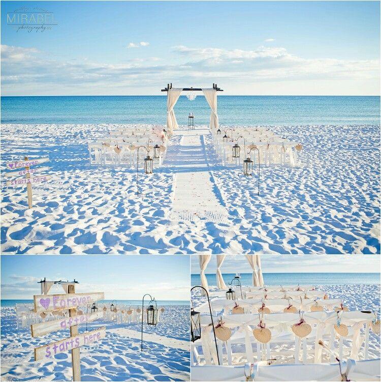 Rustic Beach Wedding By Crystal Beach Weddings In Destin Fl Beach Wedding Rustic Beach Wedding Dream Wedding