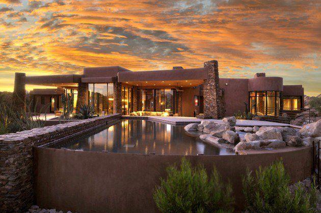 Traumhaus modern  Luxusvilla mit ungewöhnlichem Pool #Villa #Traumhaus #modern ...