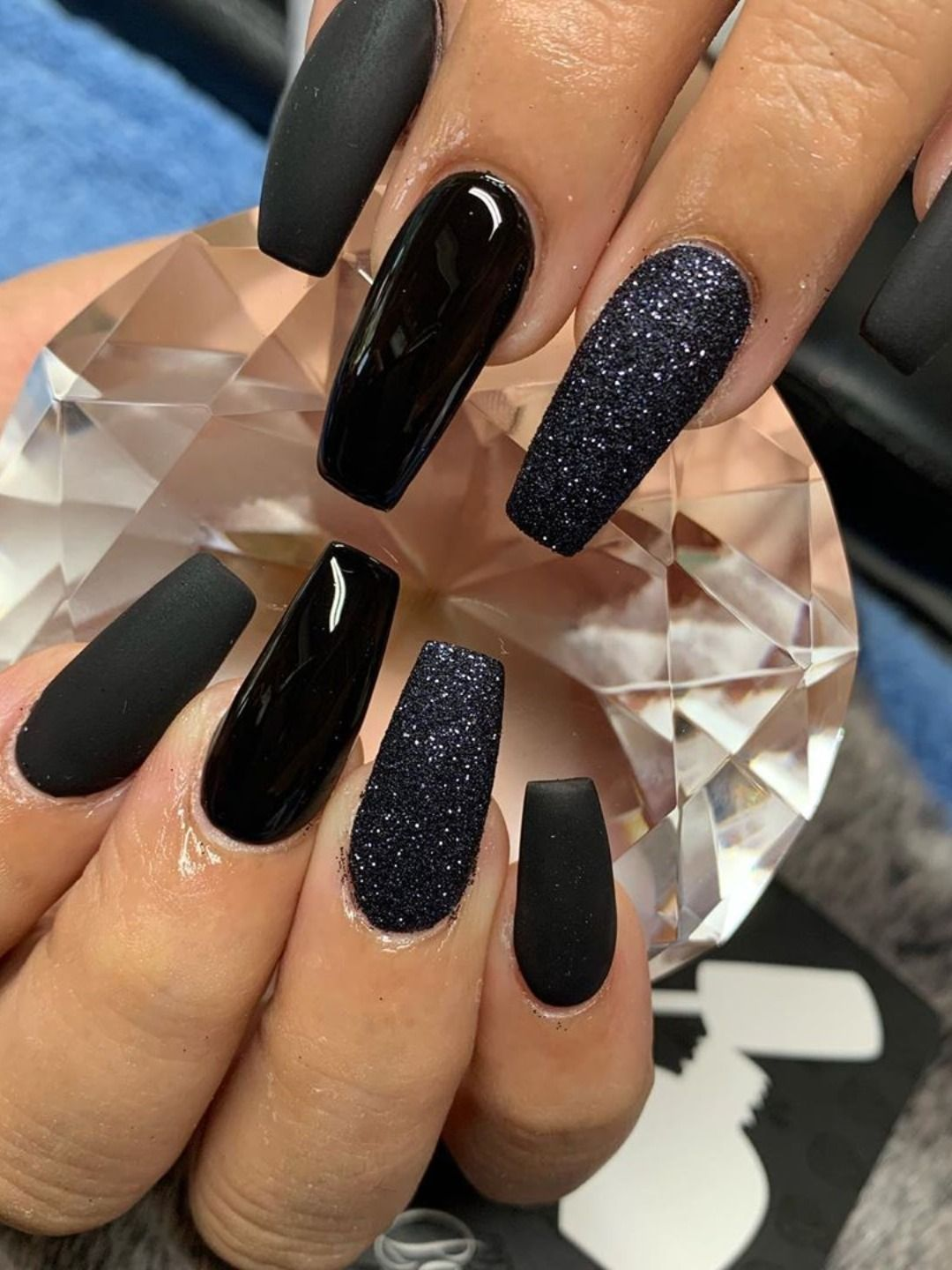 The Most Beautiful Black Winter Nails Ideas Nails Winter Nails