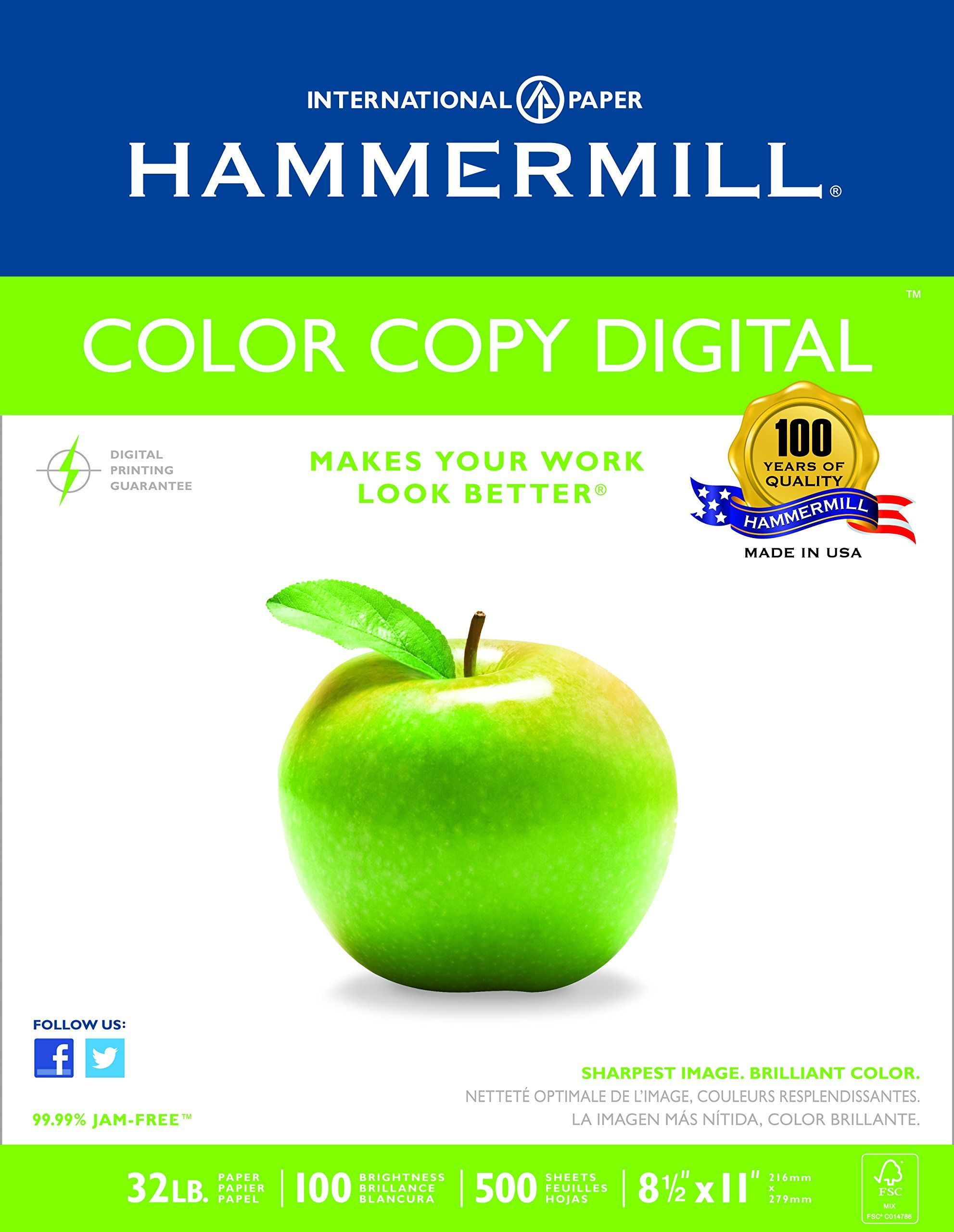 Hammermill Color Copy Digital 32 Lb 8 1 2 X 11 Inches 100