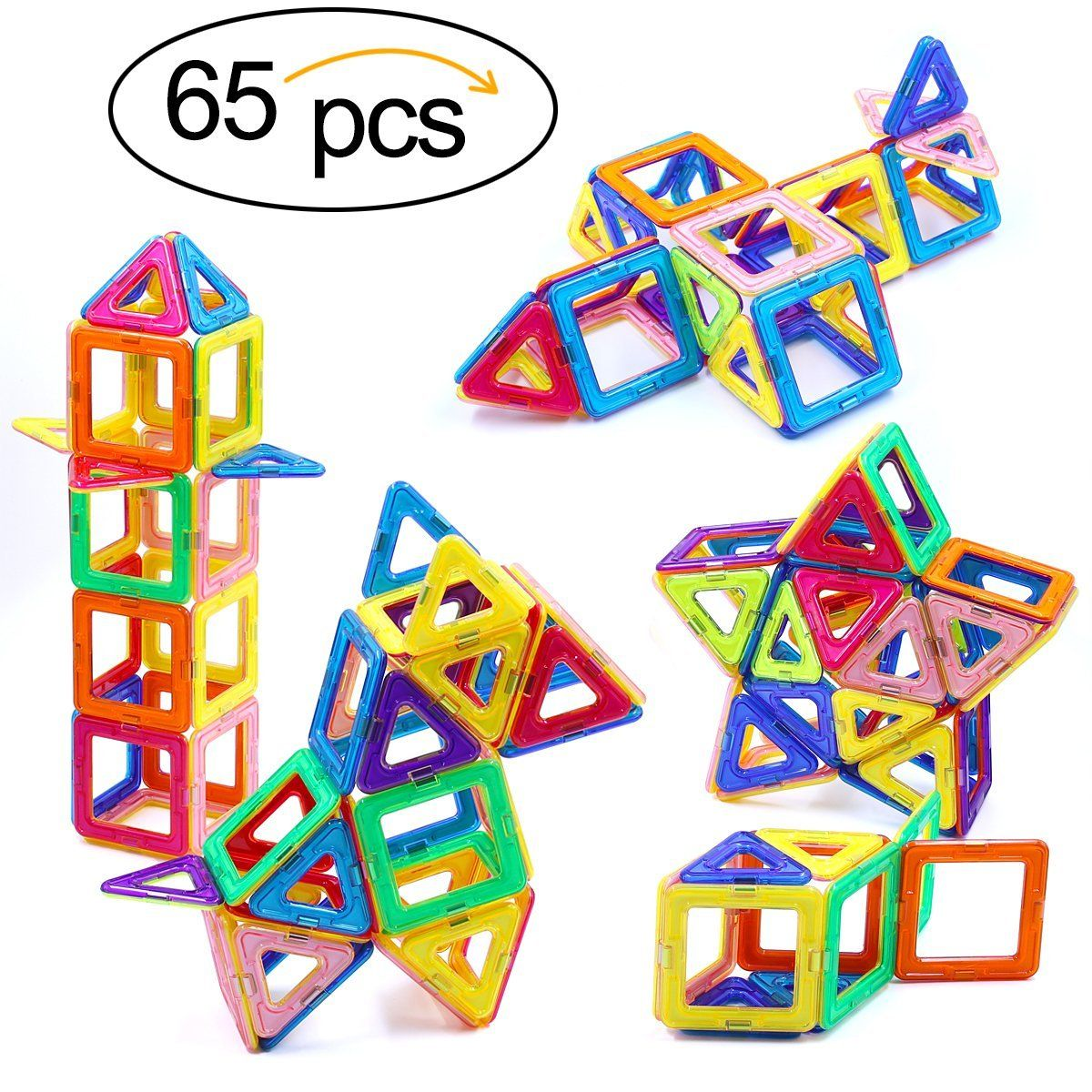 Magnetic Blocks, Ranphykx 65 Piece Magnetic Building Blocks Set Magnetic Tiles Educational Toys for Kids *** Read more at the image link. (This is an affiliate link) #GiftsforLegoLover