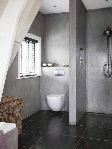10x betonnen badkamers | Toilet, Interiors and House