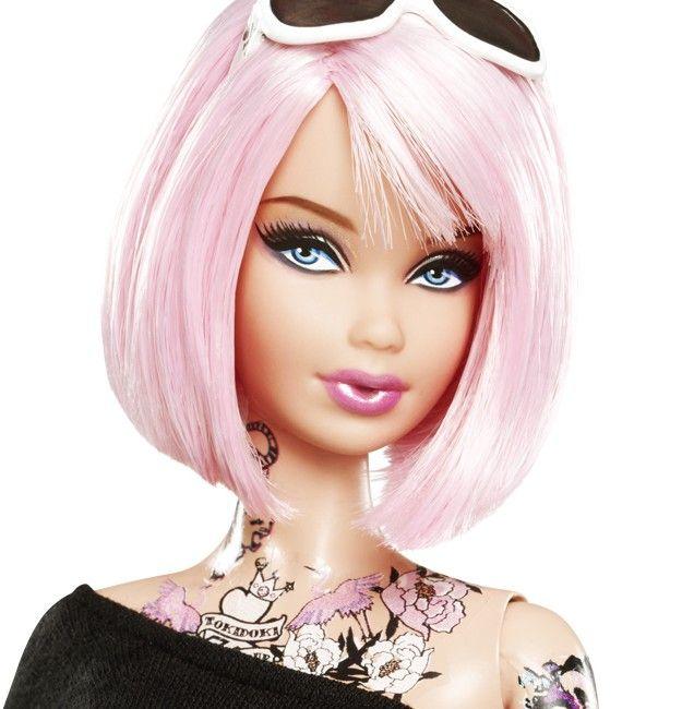 barbie hår