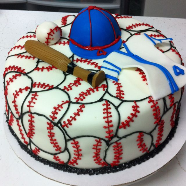 Baseball cake- cute idea for future bday.... Try it with a football theme ;)