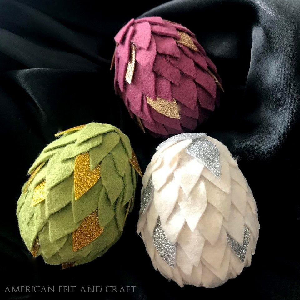 Felt Dragon Egg Tutorial