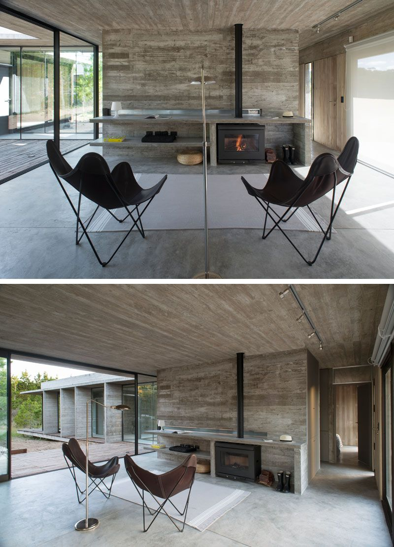Pro küche design luciano kruk has completed a new wood and concrete house in