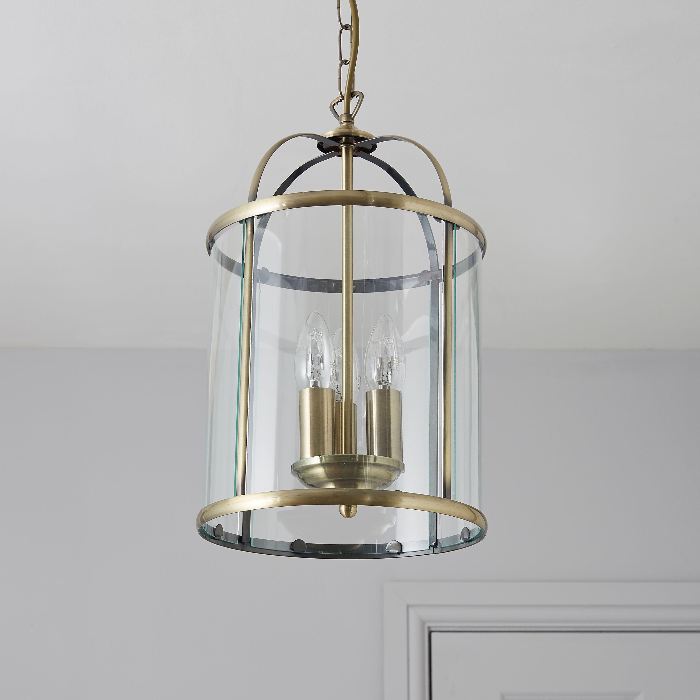 Meira Antique Brass Effect 3 Lamp Pendant Ceiling Light Departments Diy At B Q Ceiling Lights Ceiling Pendant Lights Ceiling Lights Diy