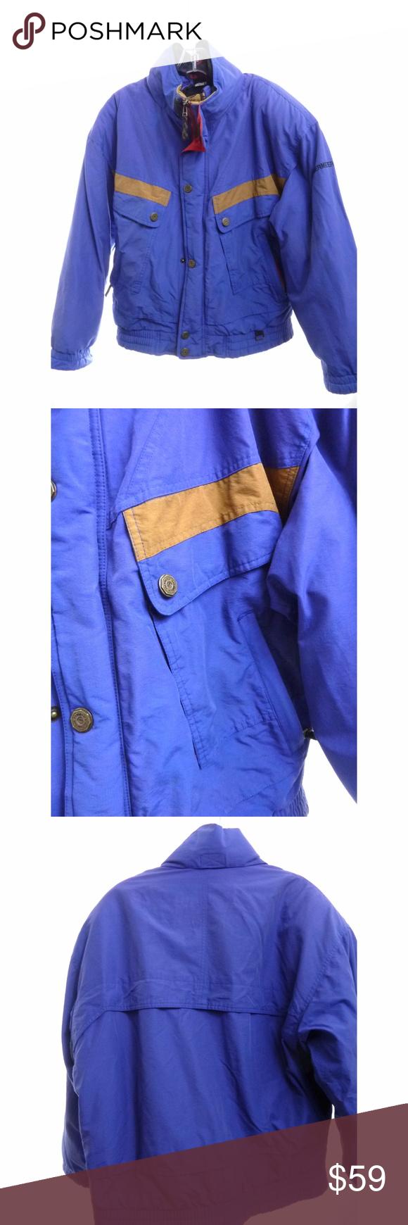 Mens obermeyer winter jacket with fleece lining m vintage obermeyer
