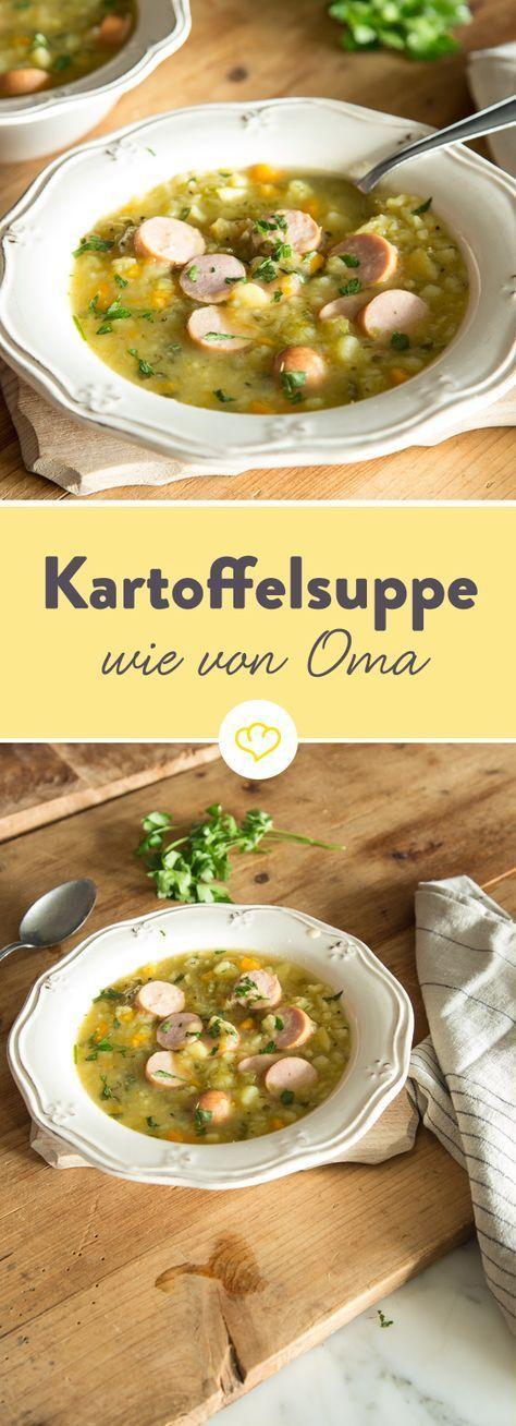 Wie von Oma: Deftige Kartoffelsuppe mit Bockwurst #newgrandma