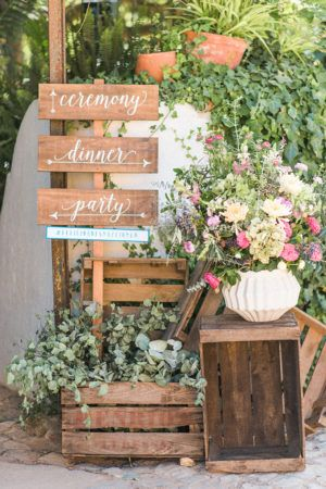 Greenery plants and wood details for a casual rustic wedding wedding ideas ruffled