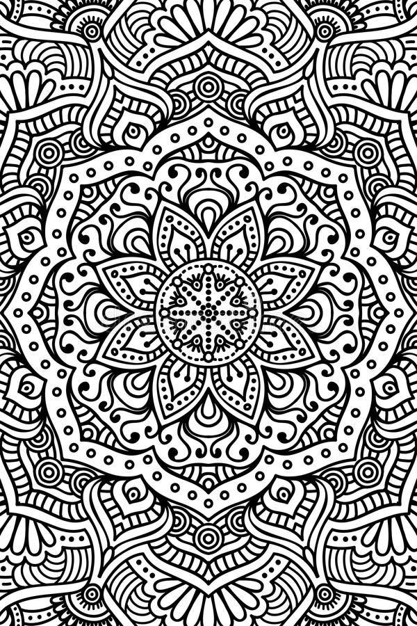 Download Vector Indian Mandala Background Stock Image