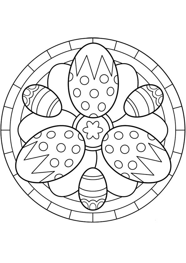 Easter Mandala To Color Easter Egg Coloring Pages Easter Coloring Pages Easter Colouring