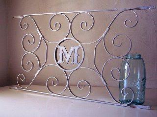 Vintage Screen Door Monogram recycled into home decor. So Pretty | Vintage screen doors, Door monogram, Screen door