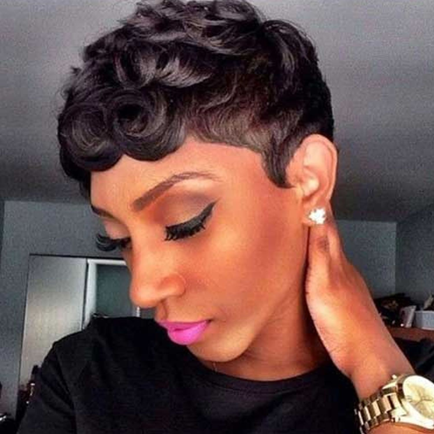 2018 Short Haircuts For Black Women 57 Pixie Short Black Hair