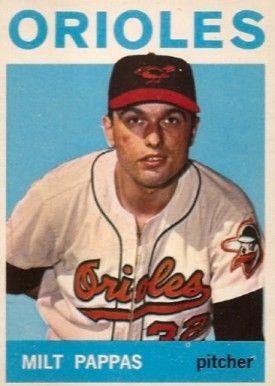 1964 Topps Milt Pappas Baseball Baseball Baseball Card