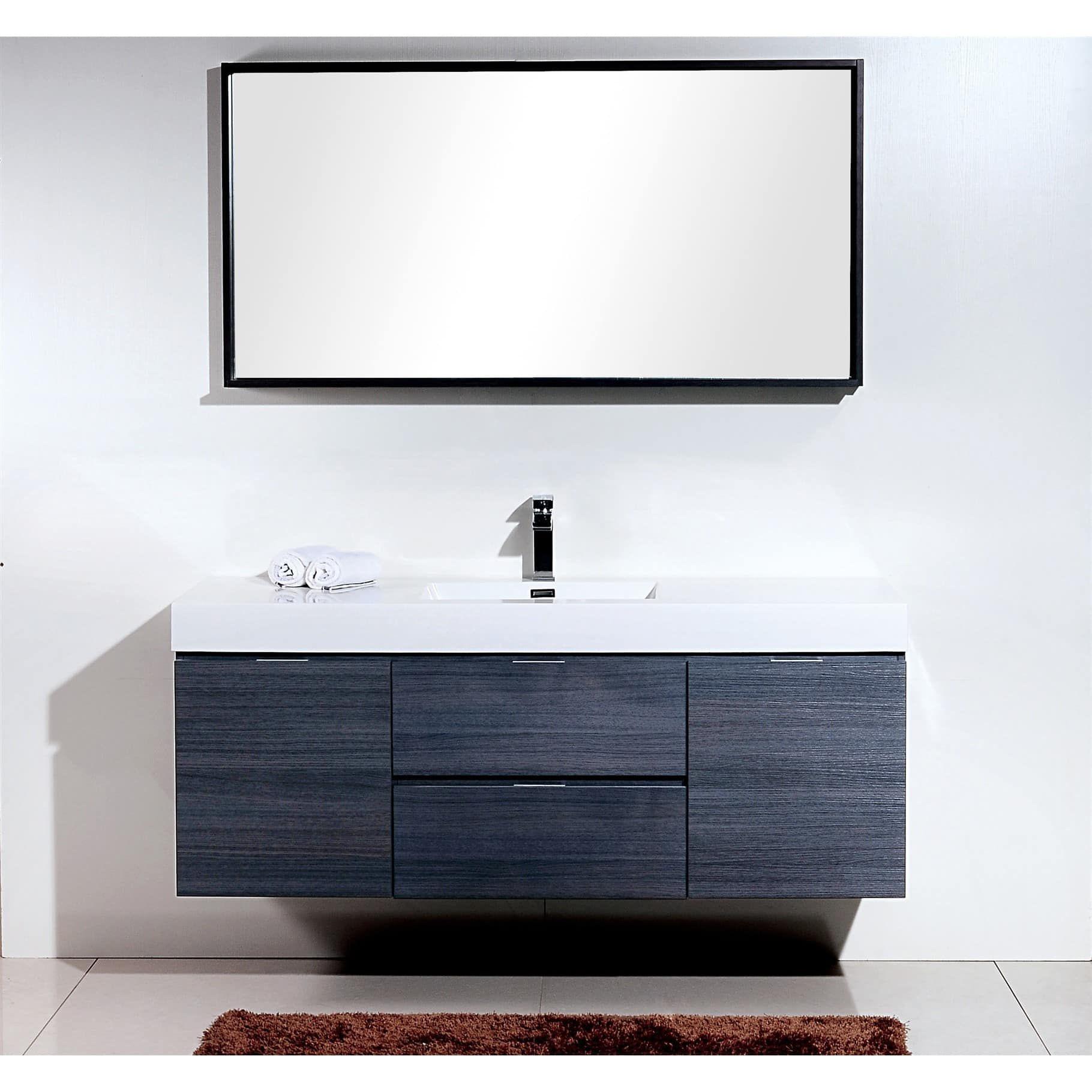 Kubebath Bliss 59 Inch Single Sink Bathroom Vanity With Images