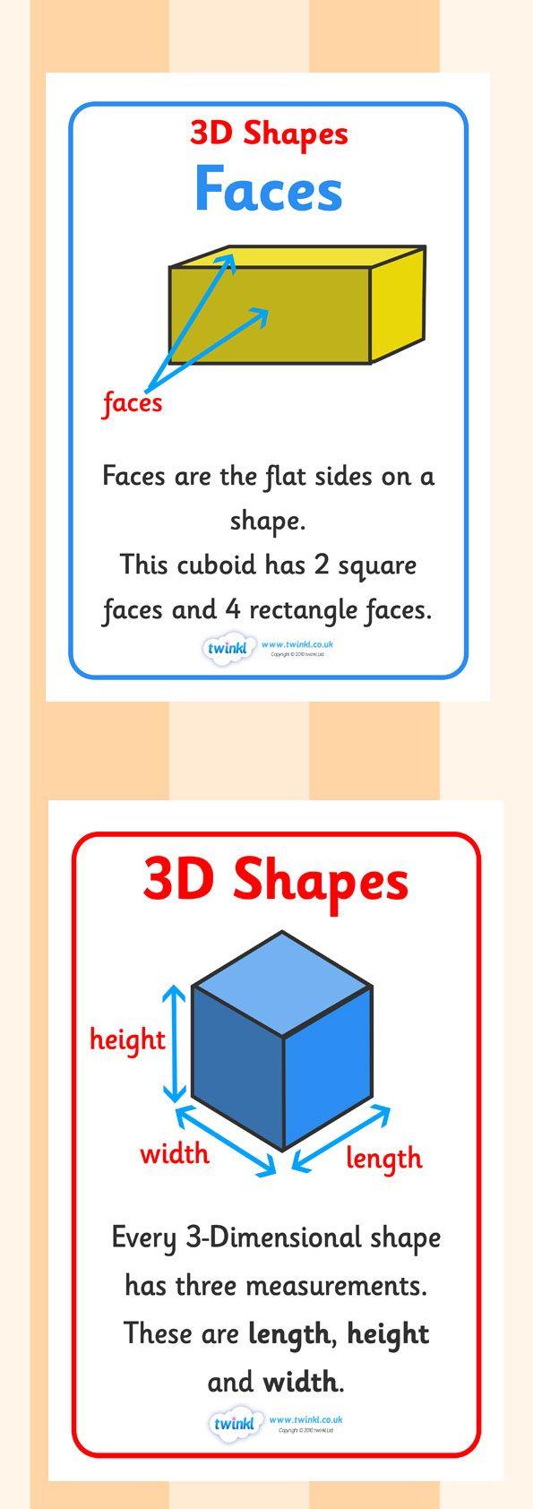 3d Shape Properties Display Posters 3d Shape Properties Shapes Kindergarten 3d Shapes Activities [ 1684 x 595 Pixel ]