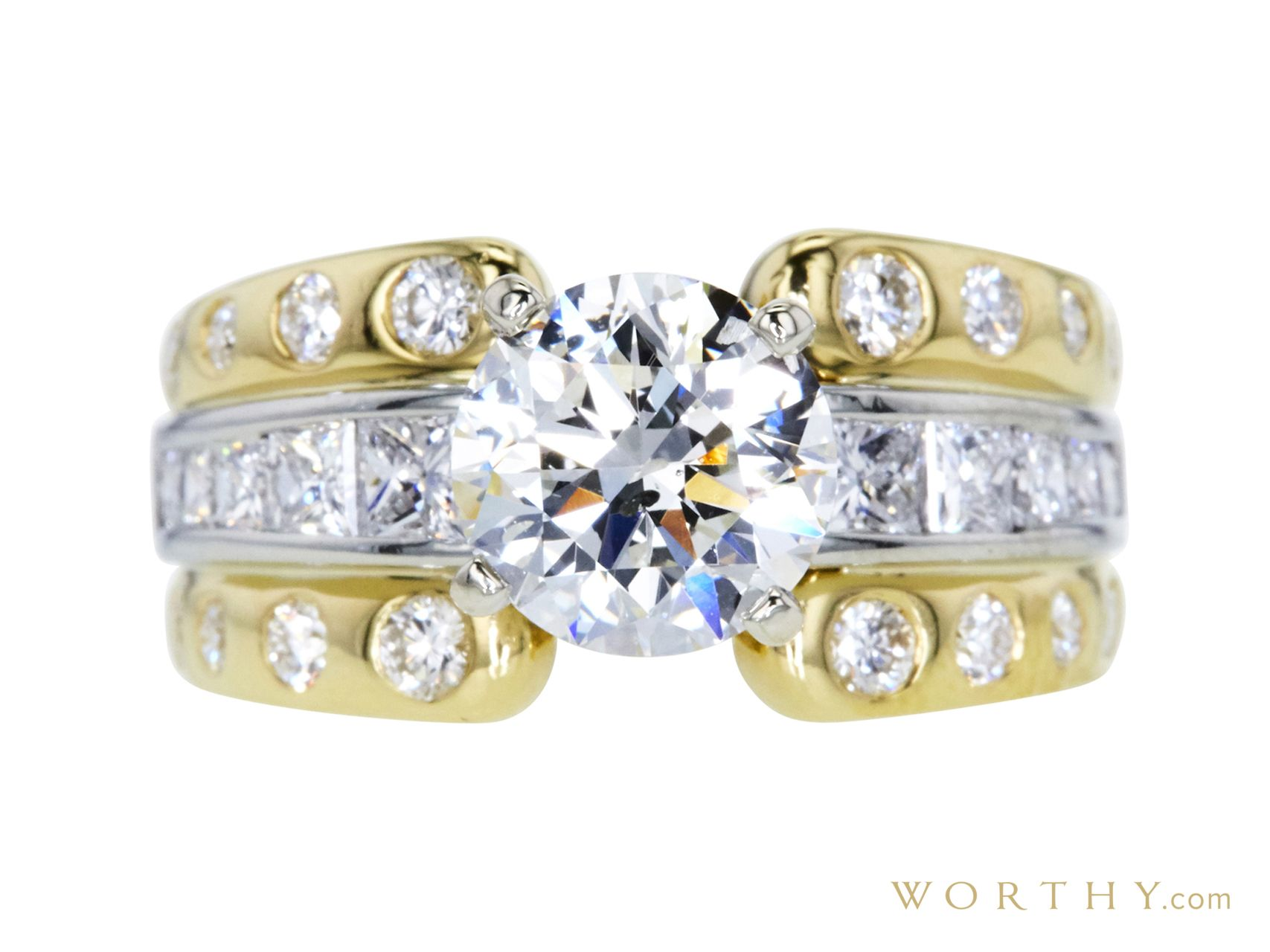 GIA 2.00 CT Round Cut Solitaire Ring, H, SI2 Sold at Auction for $6,660