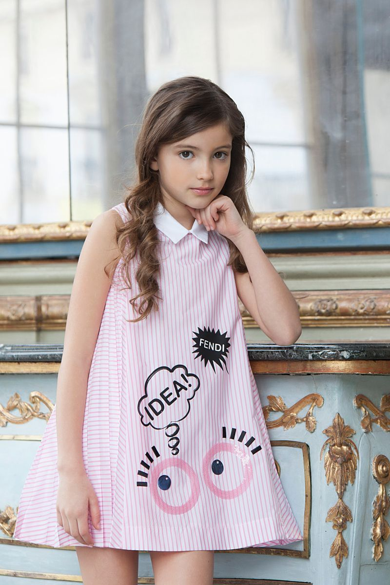Fendi kids spring summer  stripes KidsFashionBrands