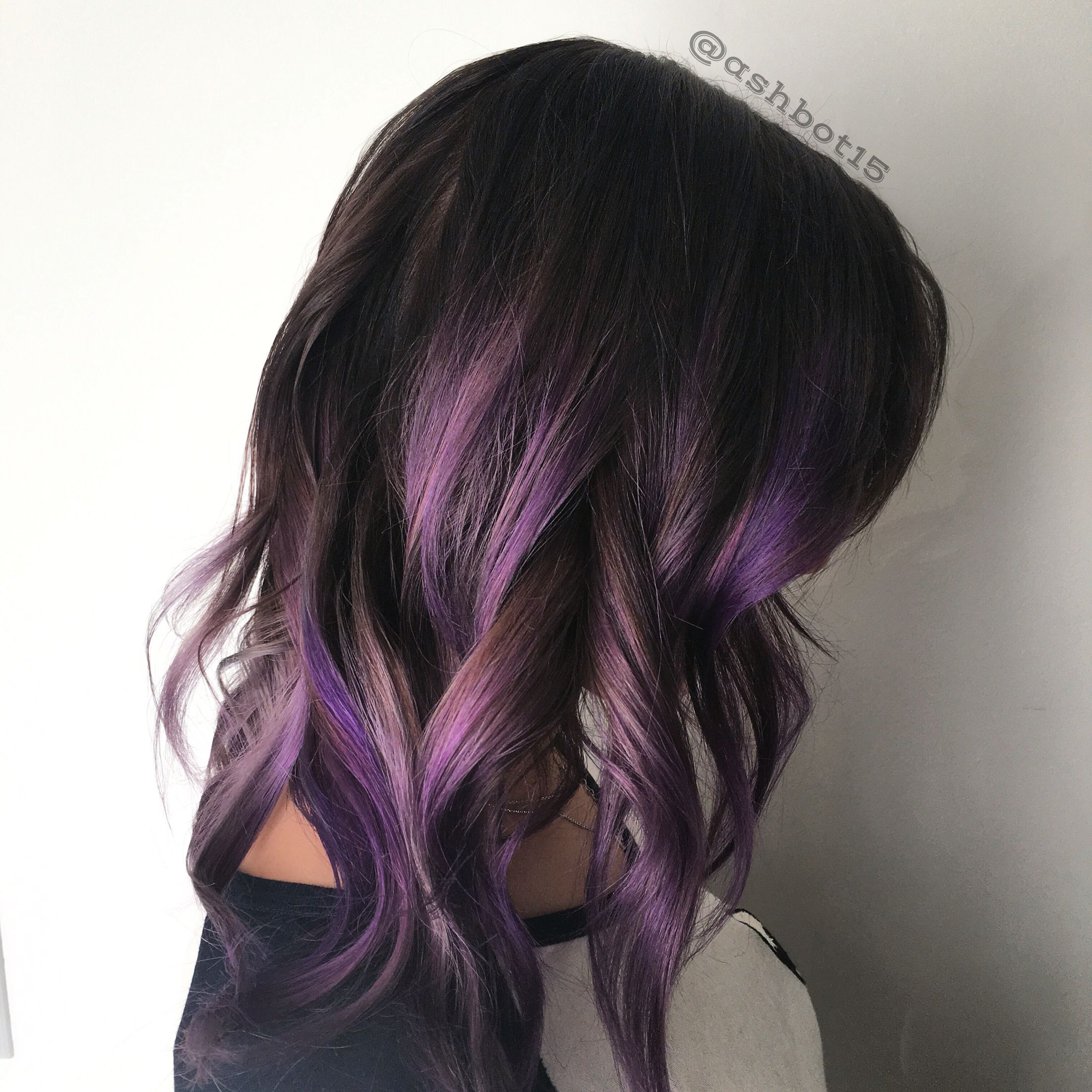 Lavender Ombre Lob Pink Ombre Hair Pink Hair Highlights Purple Ombre Hair