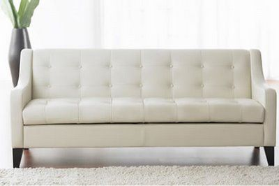 Awesome White Leather Sofa Bed General Decorating Pinterest
