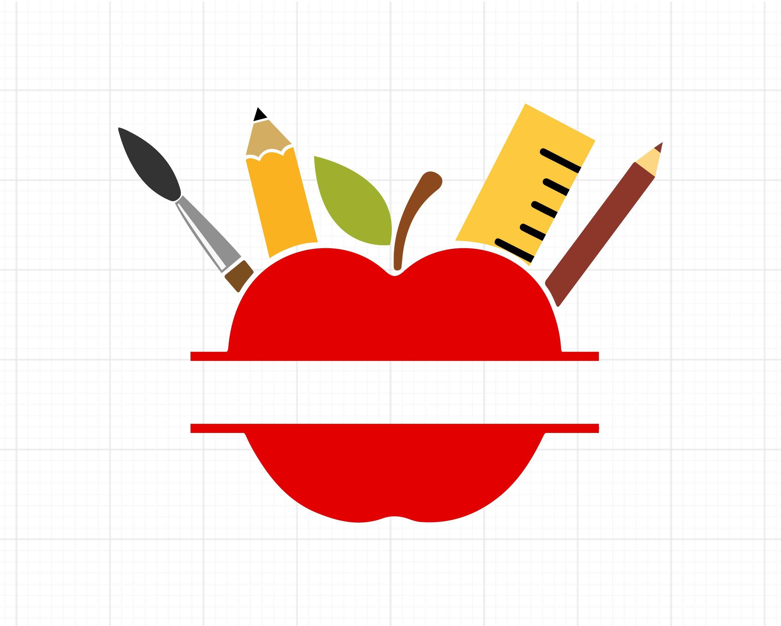 Apple Name Frame SVG File, Digital Download for Cricut