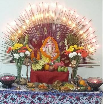 easy ganpati decoration ideas at home images
