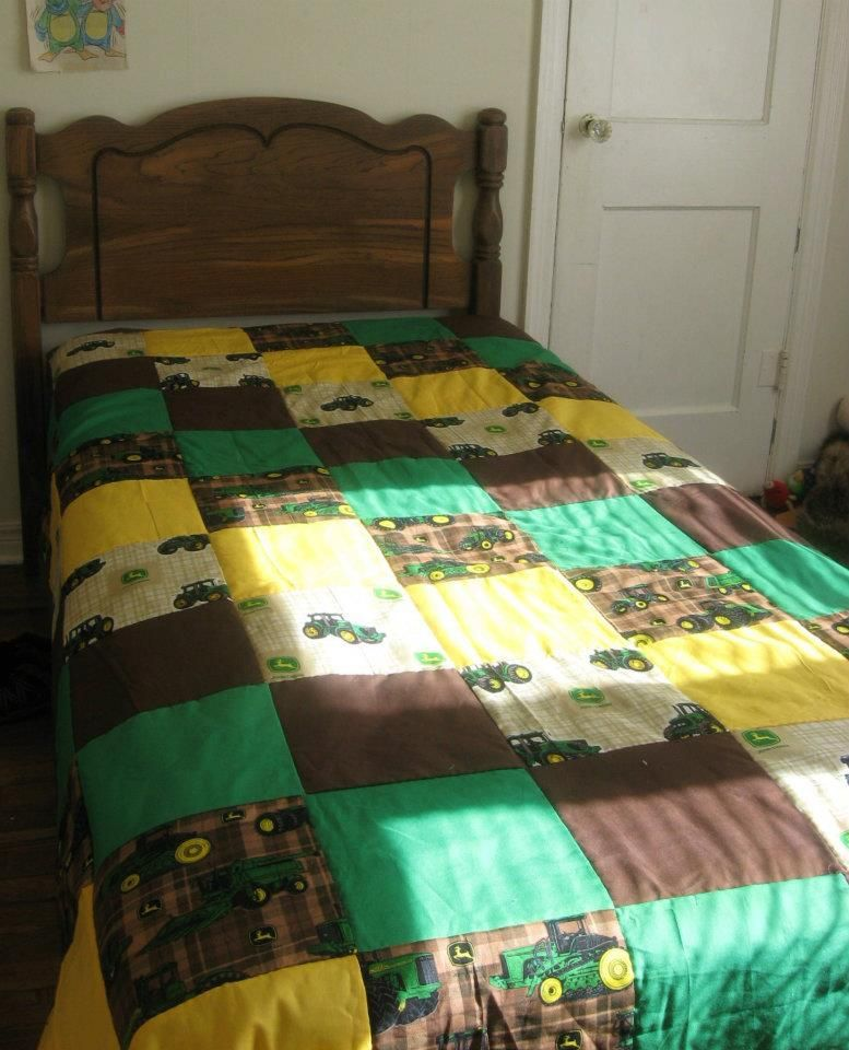custom order john deere twin quilt made by heather miller of laundry room quilts - Twin Quilts