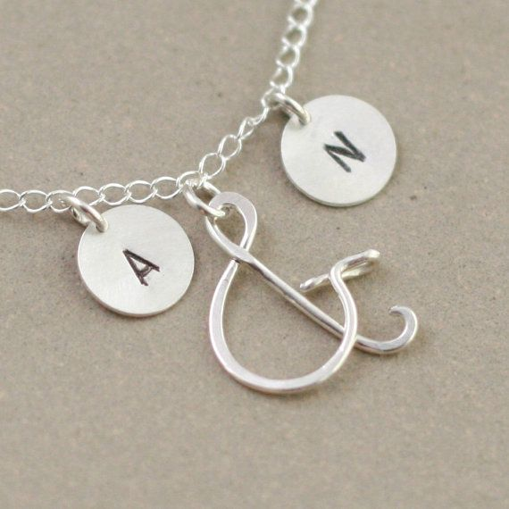 ampersand necklace personalized initials by MeadowbelleMarket, $36.00