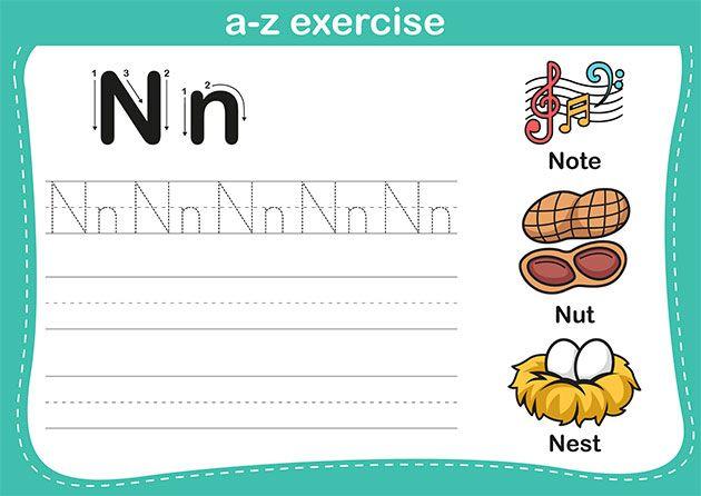 اوراق عمل رياض اطفال الحروف انجليزي تعليم حروف الانجليزية للاطفال بالصور بالعربي نتعلم Letter Worksheets For Preschool Writing Practice Sheets Vocabulary