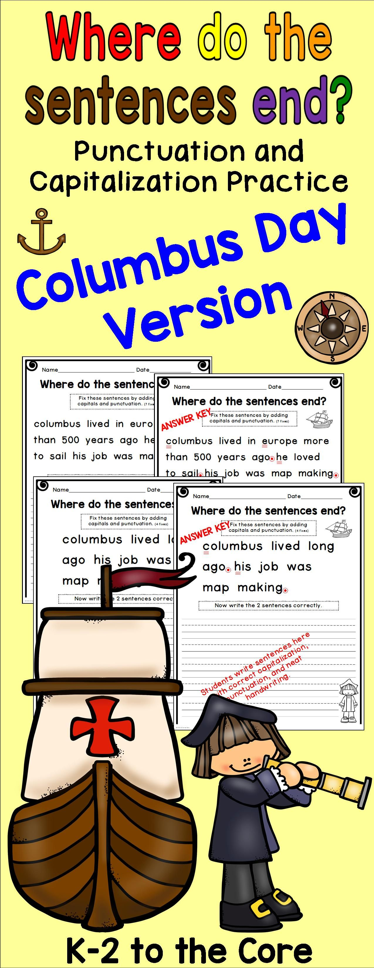 hight resolution of Christopher Columbus Worksheets For Kindergarten   Printable Worksheets and  Activities for Teachers