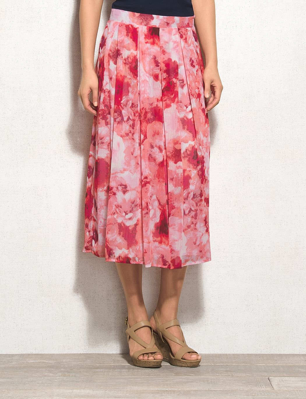Misses | Skirts | A-Line Skirts | Roz & ALI Pleated Floral Skirt