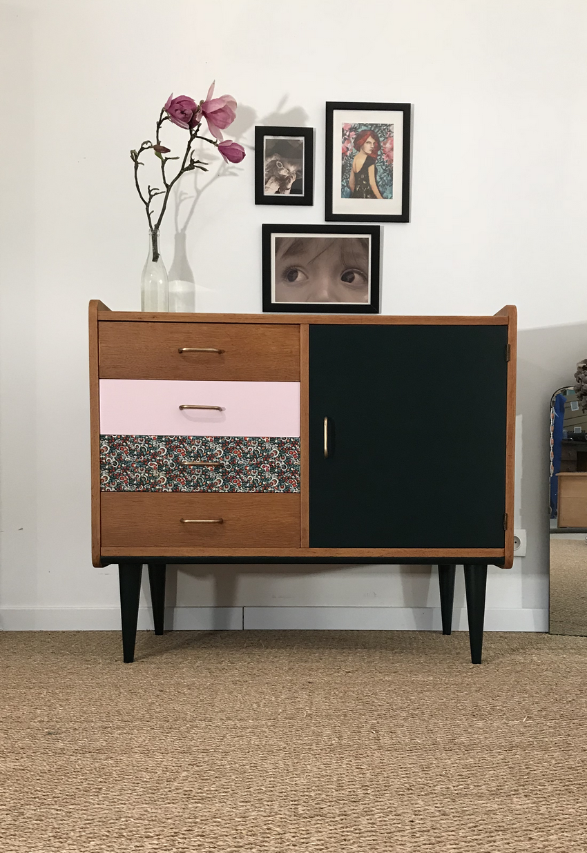 commode vintage eliette commode r nover mobilier de. Black Bedroom Furniture Sets. Home Design Ideas