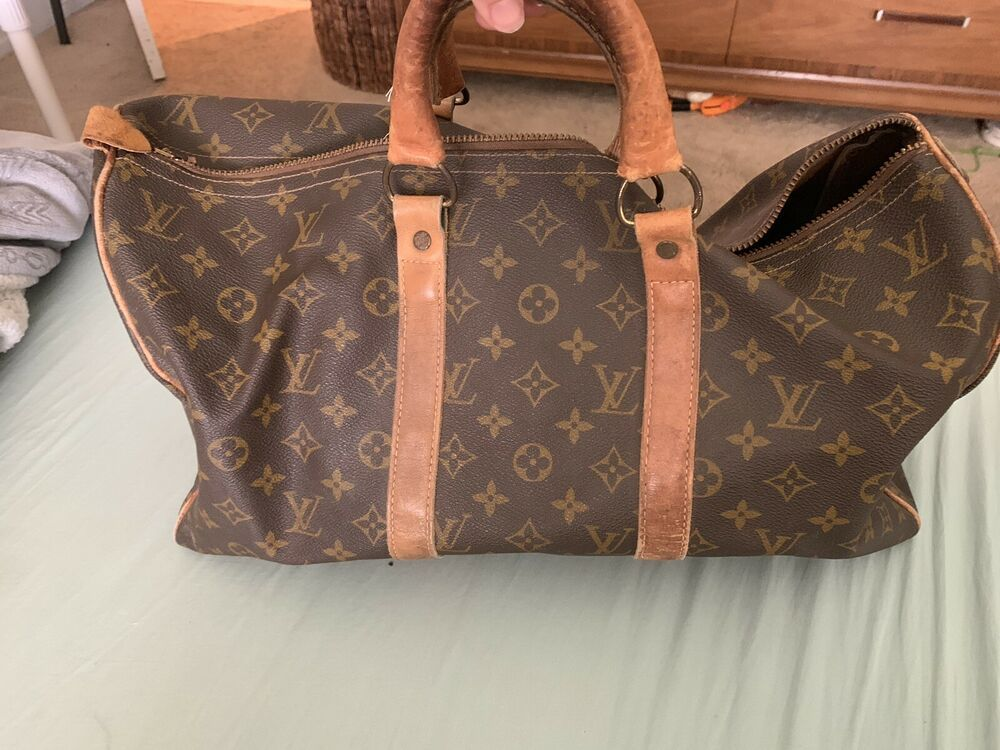 Vintage Louis Vuitton French Company Carry All Vintage 45 Cm Duffel Bag 44 Bids Vintage Louis Vuitton Louis Vuitton Travel Louis Vuitton