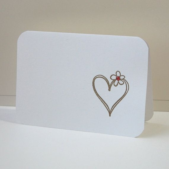 Valentines Cards Heart Cards Blank Note Card by ...