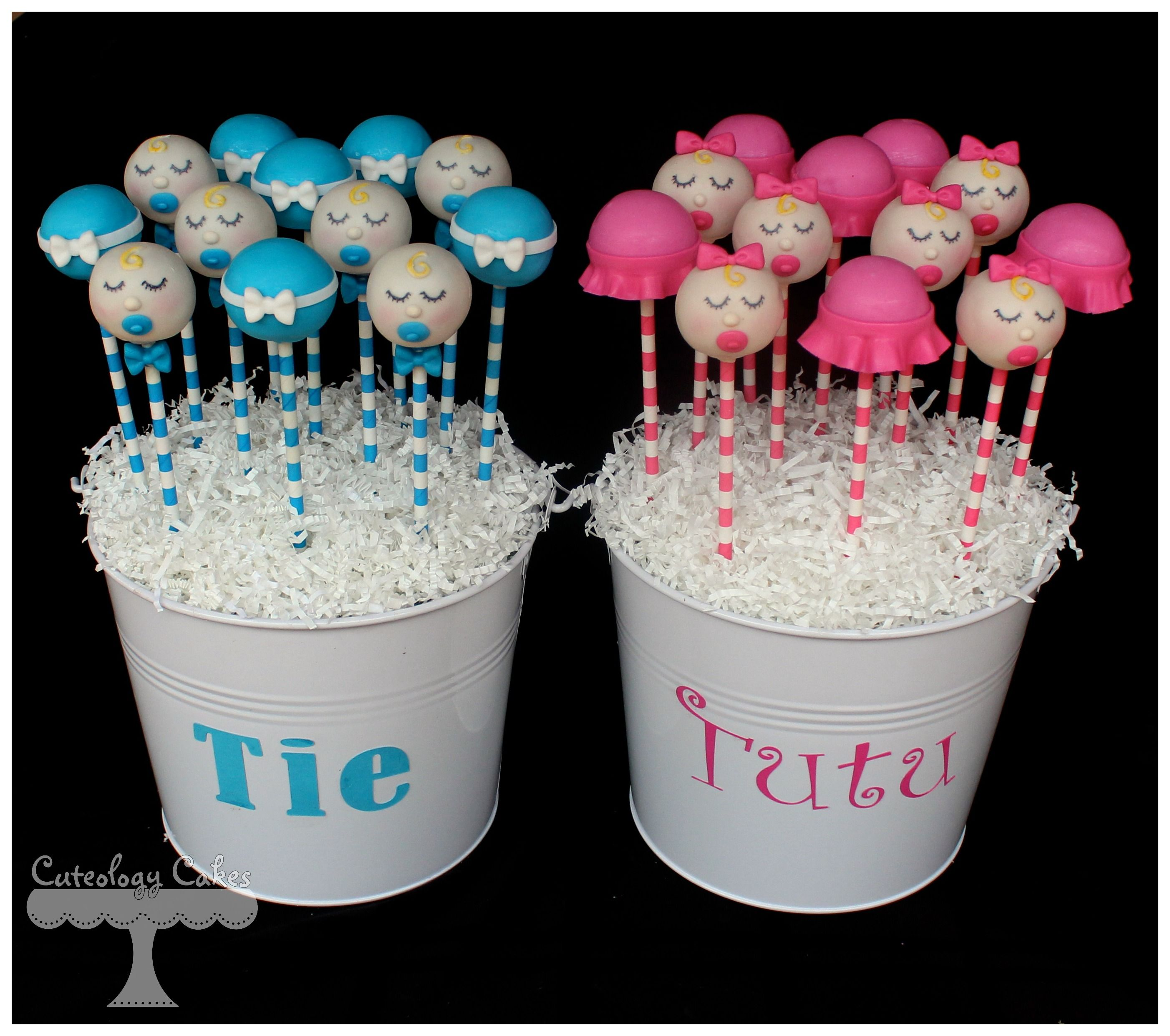 Tie Or Tutu Gender Reveal Cake Pop Bouquets With Ties Tutus And
