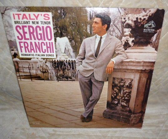 LP Record: SERGIO FRANCHI Romantic Italian Songs RCA VICTOR Red Seal 1962 #LatinPop