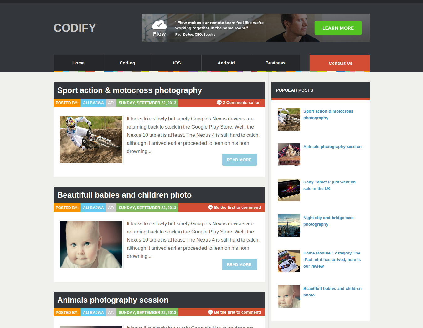 Codify Magazine Blogger Template. Template: Codify Author ...