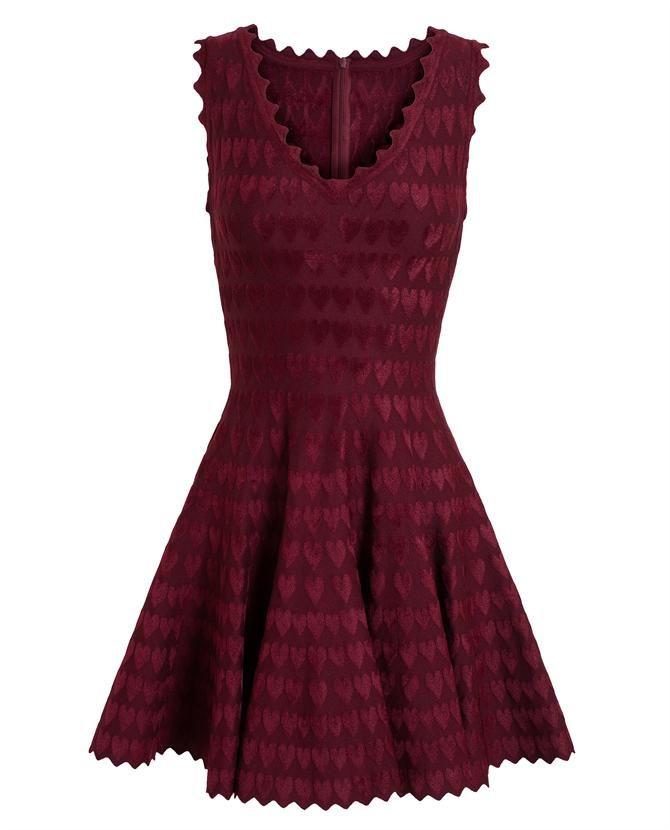 AZZEDINE ALAÏA | Heart Motif Stretch-Knit Dress