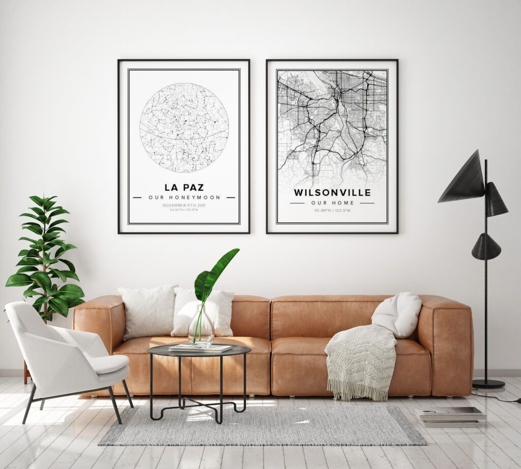 10 Best Places To Buy Custom Wall Art That Won T Break The Bank In 2020 Custom Wall Art Map Wall Decor Swedish Home Decor