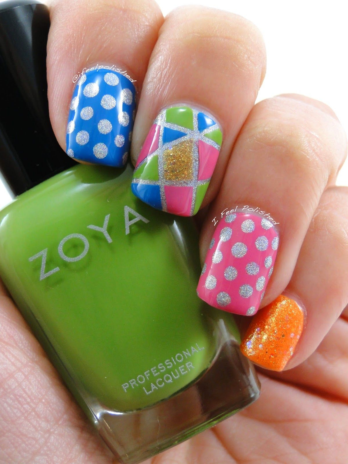Nail Art Skittles   manicure   Pinterest   Calabacín, Diseños de ...