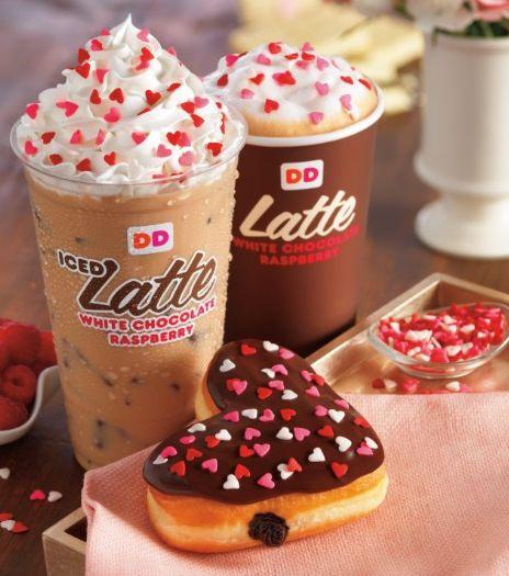 Dunkin Donuts, Raspberry Coffee, Chocolate