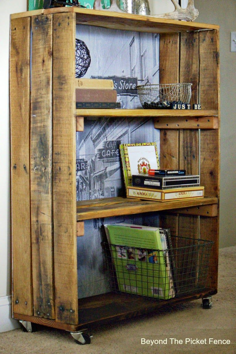 Shelves Made From Pallets Rustic Industrial Shelf Made With Pallet Wood Http Bec4