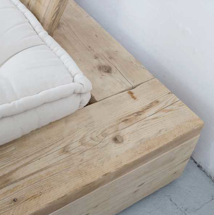 A DIY Bed Made from Reclaimed Wood | diy home decor | Pinterest ...