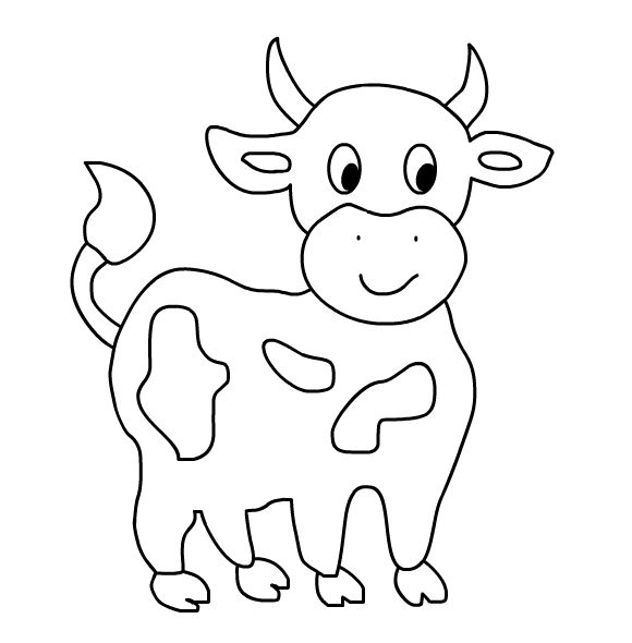 Pin By Nina Lain On Colorir Cow Coloring Pages Farm Animal Coloring Pages Animal Coloring Books