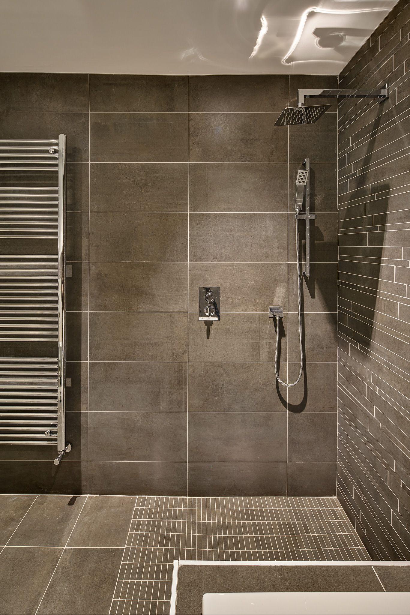 Icon Grey Icon Grey Muretto Stripes Icon Grey Mosaic Rectangular Tiles Bathroom Wall Cladding Stone Cladding Tile Bathroom