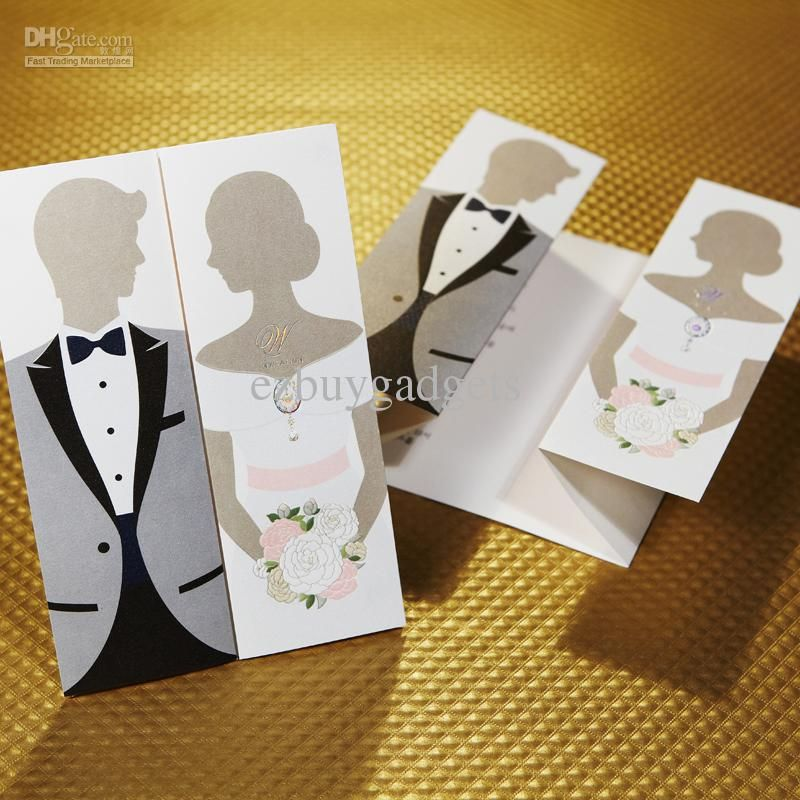 Wholesale Wedding Cards Buy Gorgeous Bride Groom Design Wedding