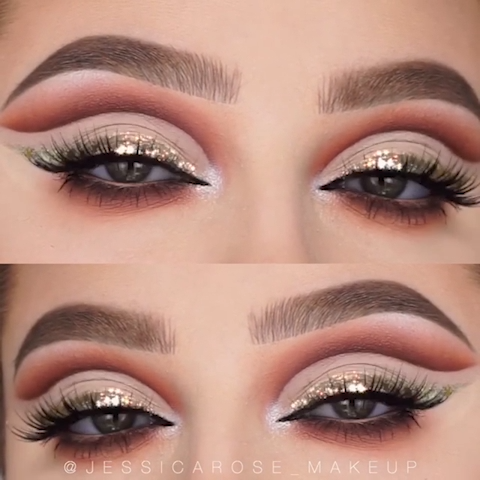 Photo of SPARKLY BROWN EYE MAKEUP LOOK TUTORIAL FOR FALL
