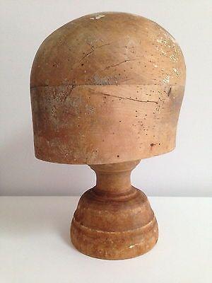 Vintage Milliner S Wooden Hat Block Stand Millinery Wig Stand Hat Stand Hat Stands Vintage Shop Display Hats Vintage