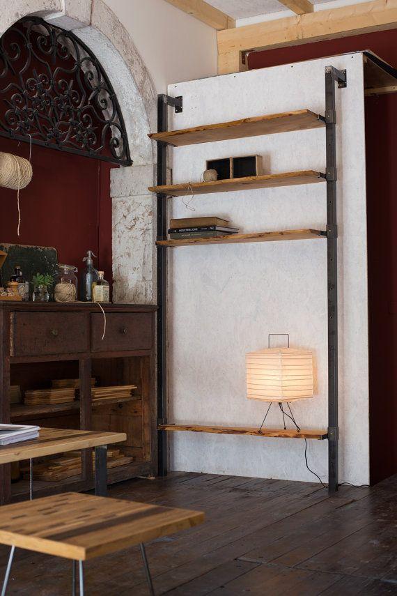 Noir Oxydé Bibliothèque De Fer Style Industriel Avec Soudures